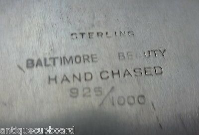 Baltimore Beauty by Baltimore Silversmiths Sterling Silver Dessert Plate #0305 6