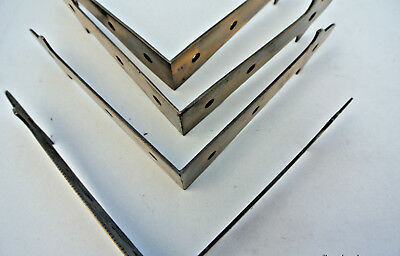 8 large corners strap solid 100% Brass antiques old style BOX edge tables 15cm B 4
