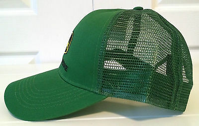 ... John Deere Green Fabric   Mesh Hat Cap with Vintage Logo in Yellow ... bbab7ed993e9