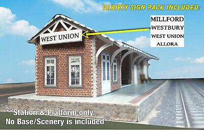 N Scale Building - Passenger Station (Cover Stock PRE-CUT Paper Kit) ST2 6
