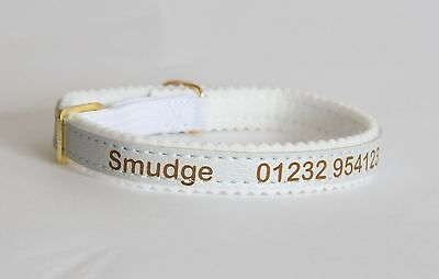 Personalised Cat Kitten Collar ID Tag, Ancol Quality, Laser Engraved, UK made 6