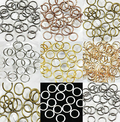 4/5/6/7/8/10/12MM  Wholesale Open Split Jump Rings Connectors Beads jewelry DIY 5