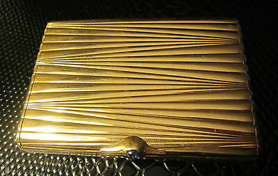 Amazing heavy antique imperial Russian gold (56) cigarette case with cabochon! 3