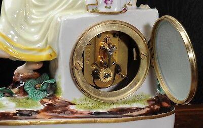Rare Vienna Porcelain Boudoir Clock C1880 8