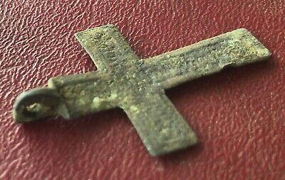 Authentic Antique 18th-19th Century Russian Orthodox Bronze Cross  U3-4 6