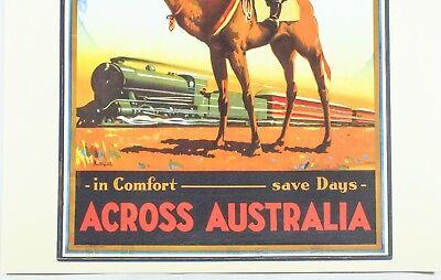 Travel by Trans-Australian Railway Across Australia 3440 Vintage Print//Poster