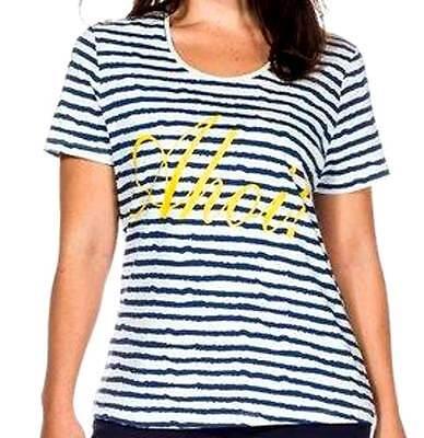 144 SHEEGO Shirt T-Shirt maritim Streifen Ahoi weiß-blau GR 44 46 48 50 NEU