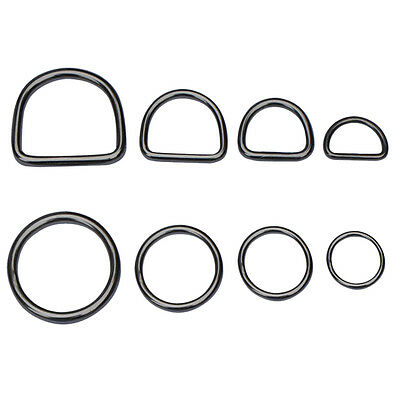 STAINLESS STEEL D-Rings & O-Rings ~ WELDED Buckles for Webbing Leather Craft DIY
