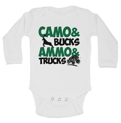 BODYSUIT TRUCKS DUCKS And Big Ole BUCKS BABY CAMO ROMPER,INFANT