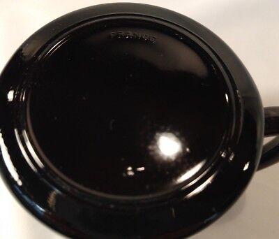 Set of 2 Arcoroc France Black Yucatan Coffee Mug Blue Southwest Aztec Design 9
