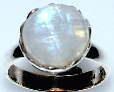Mystic Moonstone Natural Gemstone Rings 925 Sterling Silver Ring All Sizes L - Z 2