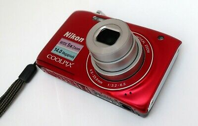 NIKON COOLPIX S3100 14mp 4,6-23,0mm. Wide 5x zoom Nikkor HD movie 2,7-in LCD VR 8