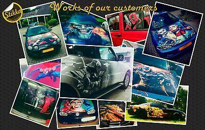 Vinyl Car Hood Full Color Graphics Decal Iron Man Tony Stark Sticker