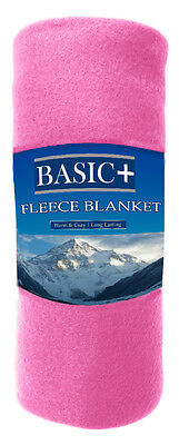 bulk lot of 24 fleece throw blankets sold by color wholesale 50x60