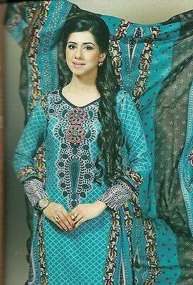 pakistani beautiful summer designer cotton lawn salwar kameez unstitched suit 3