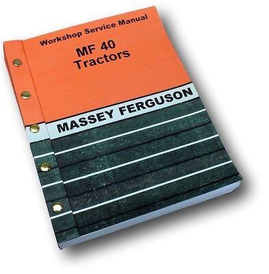 massey ferguson mf 40 industrial tractors service repair workshop rh picclick com