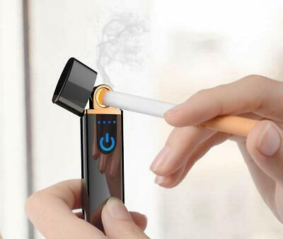 Electric Touch Sensor Cigarette Lighter Rechargeable USB WINDPROOF Lighters UK 6