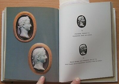 Russian Book Antique Cameo Art Old Miniature Portrait Stone Vintage Rare VTG 5