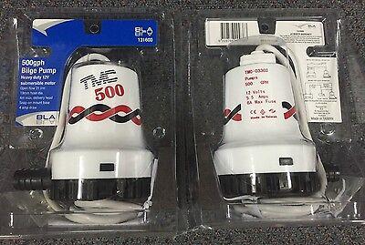 New TMC Bilge Pump 500 - 12 volt BLA 131600  Marine Boating Bilge Pumps 500GPH