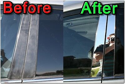 Chrome Pillar Posts fit Ford Flex 09-15 8pc Set Door Trim Mirrored Cover Kit