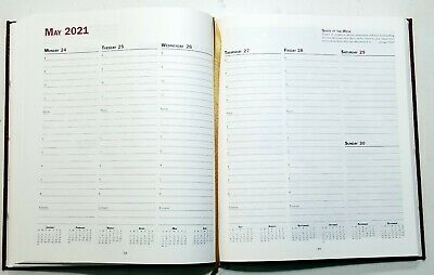2021 Sundial Appointment Book Hardcover Black  W Matching Pocket  Planner