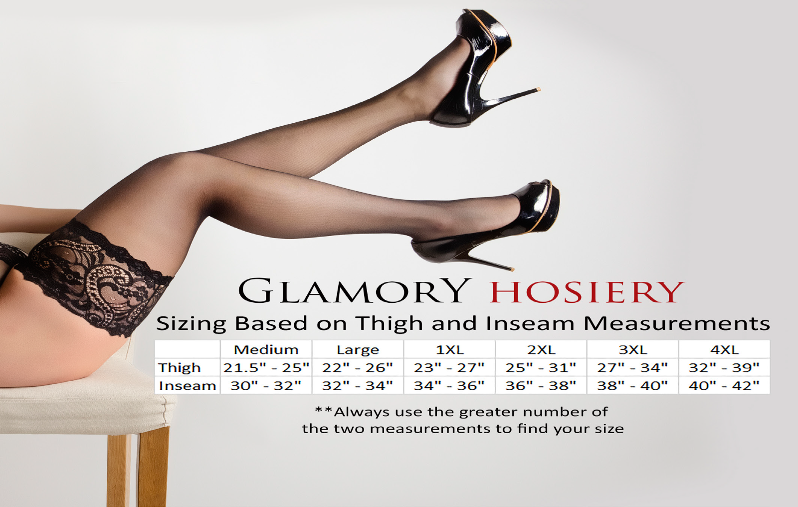 2fa1a7c722f Glamory Micro 60 Hold ups (Thigh Highs) 60 Denier Style 50118 Black to 4XL  3 3 of 3 See More
