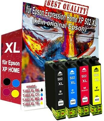 4x XL PATRONEN für Epson Expression Home XP5100 XP5105 WF 2860 DWF WF 2865 DWF 12