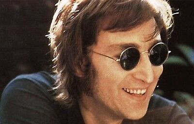 6a6e35285ea ... John Lennon Sunglasses Round Shades Retro Black or Silver Frame Smoked  Lenses 2