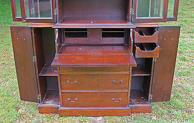18th Century Style Mahogany Secretaire Bookcase Maddox Furniture Co Jamestown NY 3
