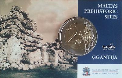 Coincard pièce 2 euros MALTE 2016 - Ggantija - Poinçon Monnaie de Paris - UNC 2