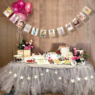 I Am One 1st Birthday Party Bunting Banner Rustic Vintage Boy Girl Baby Shower 9