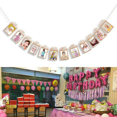 I Am One 1st Birthday Party Bunting Banner Rustic Vintage Boy Girl Baby Shower 5