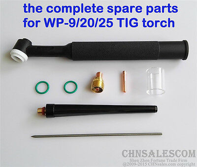26 pcs TIG Welding  Torch Gas Lens #10 Pyrex Glass Cup Kit for WP-9/20/25 2