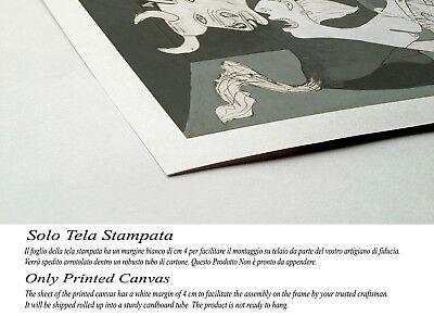 Quadro Picasso Guernica Stampa su Tela Canvas Vernice Pennellate Effetto Dipinto 3