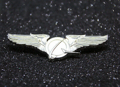 Boeing Logo WINGS SILVER LARGE Wing Pin for Pilot Crew as uniform accessory