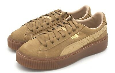 los angeles fe647 36165 NEW WOMEN'S PUMA Suede Platform Core Oatmeal Brown Sneaker 7.5 M