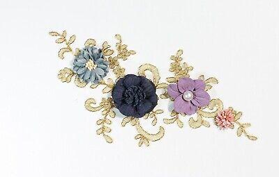 2 x  Lace Applique Wedding Motif Sew On size: 22 cm x 10 cm :#39 (9 Colours) 4