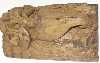 1900s Architectural Wood Corbel redefine wall fixing Carved bird Elephant trunk 2