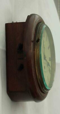 "Rare Miniature Antique English Mahogany 8 Day 7"" Fusee Dial Clock Webb Sandgate 5"