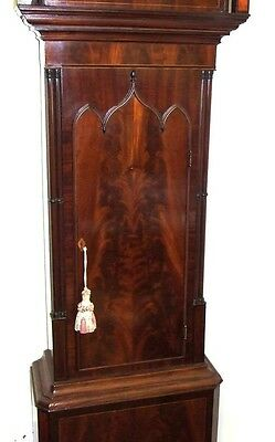 Antique Mahogany Rolling Moon Longcase Grandfather Clock THOMAS HOLMES CHEADLE 7