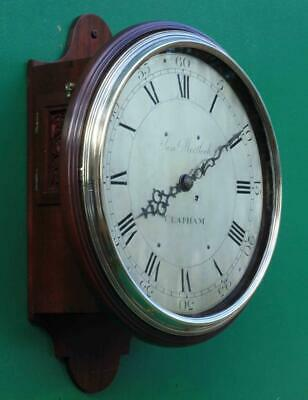 "Early English Georgian 8 Day Verge Fusee 12"" Dial Clock Samuel Mortlock Clapham 5"