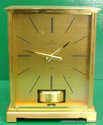 Jaeger Lecoultre Vintage Burgandy Embassy Atmos Clock Original Box Serviced 6