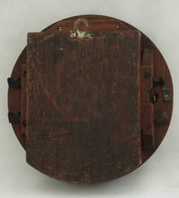 "Rare Miniature Antique English Mahogany 8 Day 7"" Fusee Dial Clock Webb Sandgate 7"