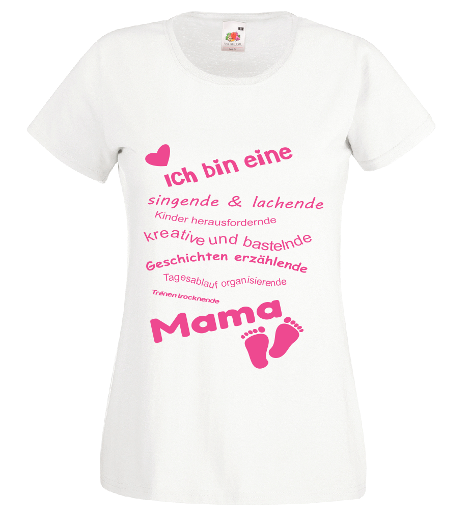 T Shirt mit Druck Mutter Geburt Baby Geschenk Schwanger Mama
