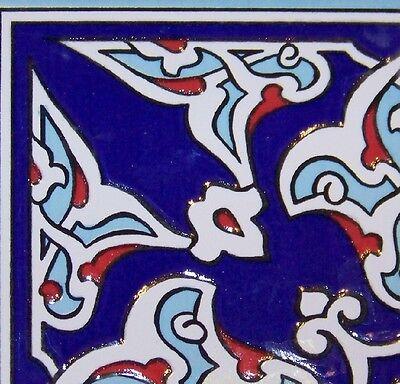 "Set of 10 Iznik Carnation /& Floral 9 7//8/"" x 15 3//4/"" Raised Turkish Ceramic Tile"