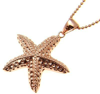 Sterling Silver Antiqued Textured Starfish Chain Slide Pendant Solid Pendants /& Charms Jewelry