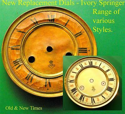 Buyers Ref: A,  Replacement laminate White  Vienna Regulator Clock Dial option1 3