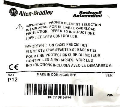 Allen Bradley AB P12 Heater Element 2