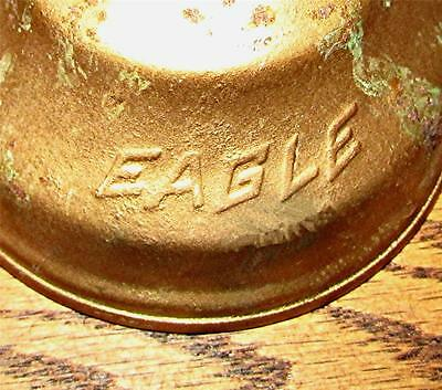 "VINTAGE EAGLE BRAND 6"" OILER CAN (empty)-GREAT WORKSHOP OR INDUSTRIAL DECOR ITEM"