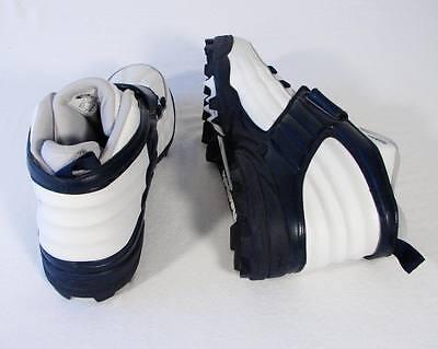 REEBOK DMX NFL Equipment White & Blue Football Cleats Shoes 15 NEW